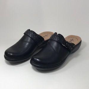 Clark's Leisa Sadie Black Leather sz 5